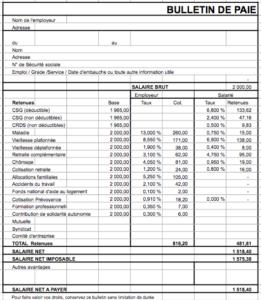 Bulletin de paie étendu