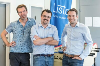 Les trois fondateurs de Listo : Edouard, Ronan et Jean